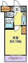 東京メトロ有楽町線 東池袋駅 徒歩1分の賃貸マンション 4階1Kの間取り