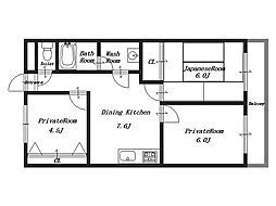 小房荘苑[2階]の間取り