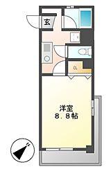 X−OVER21覚王山[4階]の間取り