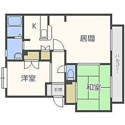 パークハイツC[3階]の間取り