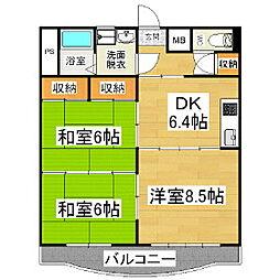 ジョイコーポ花村[1階]の間取り