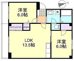 小野マンション[303号室]の間取り