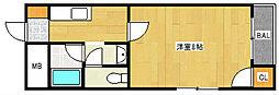 アベニューサザンプラム[5階]の間取り