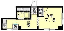 グローシングマンション[3-E号室号室]の間取り
