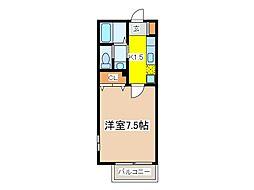 東京都府中市分梅町4丁目の賃貸アパートの間取り