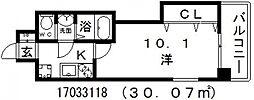 ラグゼ天王寺[5階]の間取り