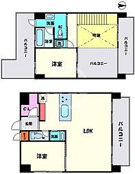 Casa Y Nanba(カーサワイナンバ) 7階2LDKの間取り