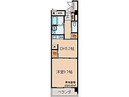 京都府京都市伏見区中油掛町の賃貸マンションの間取り