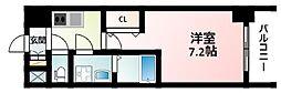 JR東海道・山陽本線 新大阪駅 徒歩12分の賃貸マンション 14階1Kの間取り