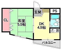 ヨシナガファーストビル[4階]の間取り