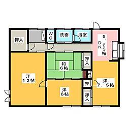 [一戸建] 静岡県磐田市見付 の賃貸【/】の間取り