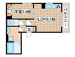 兵庫県神戸市灘区千旦通3丁目の賃貸アパートの間取り