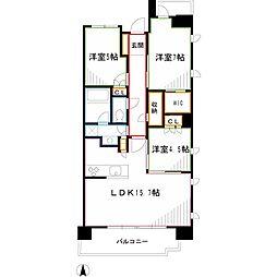 JR中央本線 三鷹駅 バス9分 上連雀八下車 徒歩1分の賃貸マンション 7階3LDKの間取り