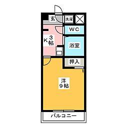 プランドール五反田[2階]の間取り