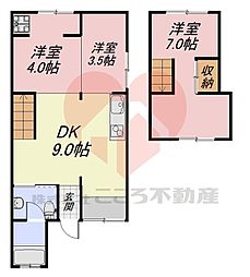 堺市東区丈六戸建 1階3DKの間取り