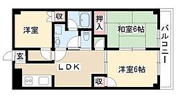 愛知県名古屋市南区鶴里町1丁目の賃貸マンションの間取り