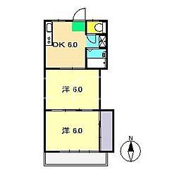 エクセルハウス三園II[3階]の間取り