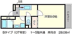 A-mon北円町[3階]の間取り
