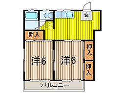 ツカサハイツ[3階]の間取り