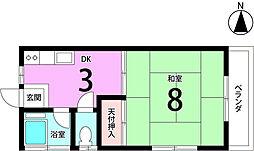 コーポ小川[203号室]の間取り