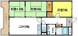 ホワイティ八野[2階]の間取り