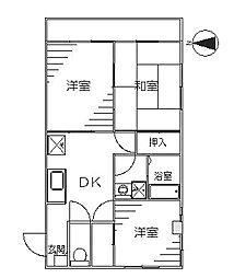 市川ビル[3階]の間取り