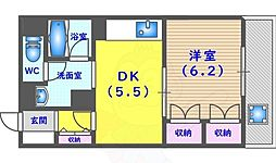 WestHILL TAKATSUKA2 5階1DKの間取り