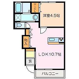 MO−V A棟[1階]の間取り