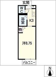ディアス前田 A棟[1階]の間取り