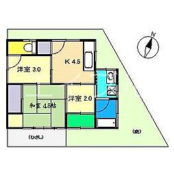 [一戸建] 高知県高知市万々 の賃貸【高知県 / 高知市】の間取り