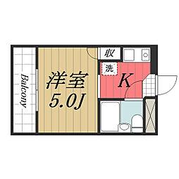 千葉県佐倉市新町の賃貸マンションの間取り