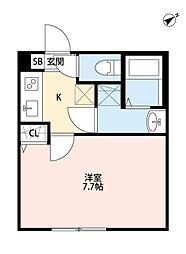 マツドシンデンハッピーハウス[301号室号室]の間取り