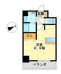プレサンス名古屋駅前プラチナム[8階]の間取り