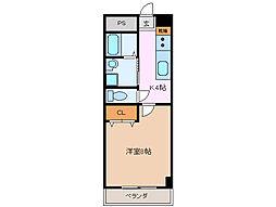 第6マンション 一八[6階]の間取り