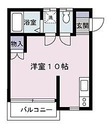 ワコーハイツA棟[203号室]の間取り