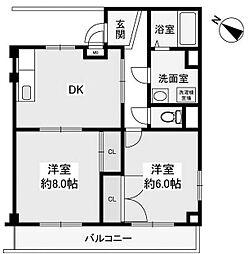メゾンロイヤル[2階]の間取り