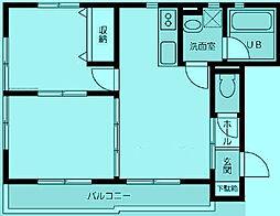 シャトレ等々力[2階]の間取り