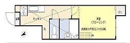 東京都大田区池上5丁目の賃貸アパートの間取り