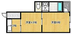 RIZEONE平野[3階]の間取り