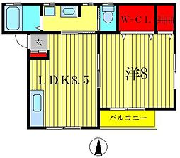 サン・ルワージュ[1階]の間取り