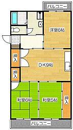 GOJO APARTMENT[1階]の間取り