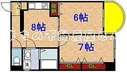 リトルハウス中央[6階]の間取り