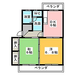 パレス小長井[1階]の間取り