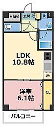 トリニティ東野[5階]の間取り