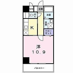 ウエストワン東大阪[5階]の間取り