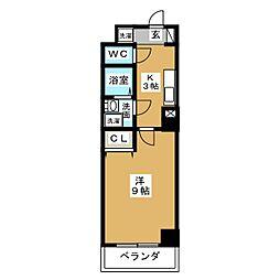 ヴァンキッシュ[3階]の間取り