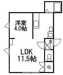キラメック円山表参道I[302号室]の間取り