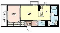 (仮称)摂津市シャーメゾン千里丘 3階1LDKの間取り