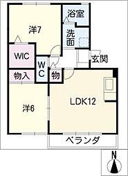 グロースレイA棟[2階]の間取り