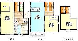 [一戸建] 神奈川県小田原市本町1丁目 の賃貸【/】の間取り